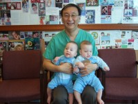 Twins from a 42 woman who failed IVF.  Then saw Dr. Lee to correct her imbalance for 4 months.  Conceived from her first IUI.